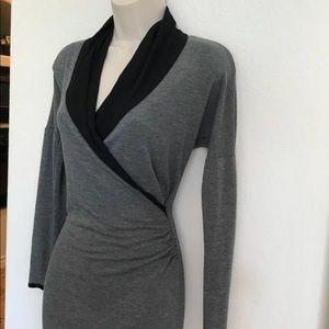 Plenty by Tracy Reese Dresses - Plenty by Tracy Reese Gray & Black Faux Wrap Dress